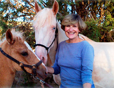 Sedona  Realtor Lee Congdon with her favorite horses
