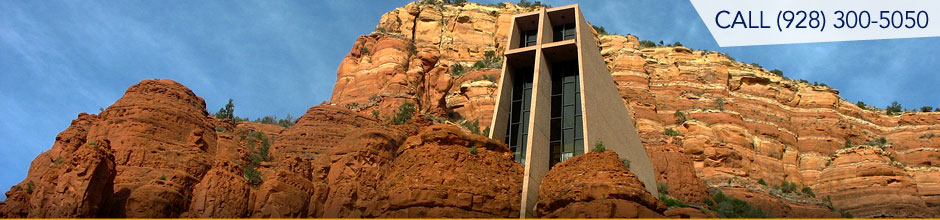 The picturesque Chapel of the Holy Cross is considered one of Arizona's Seven Wonders.